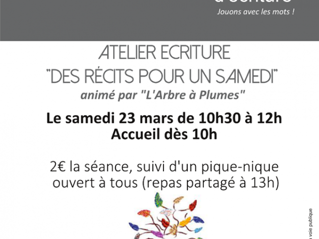 Atelier d'écriture à la médiathèque de Saint Calais