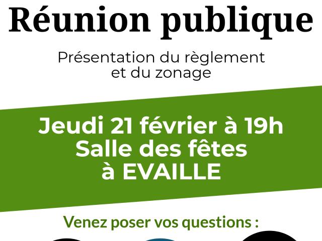 PLUi : réunion publique à Evaillé