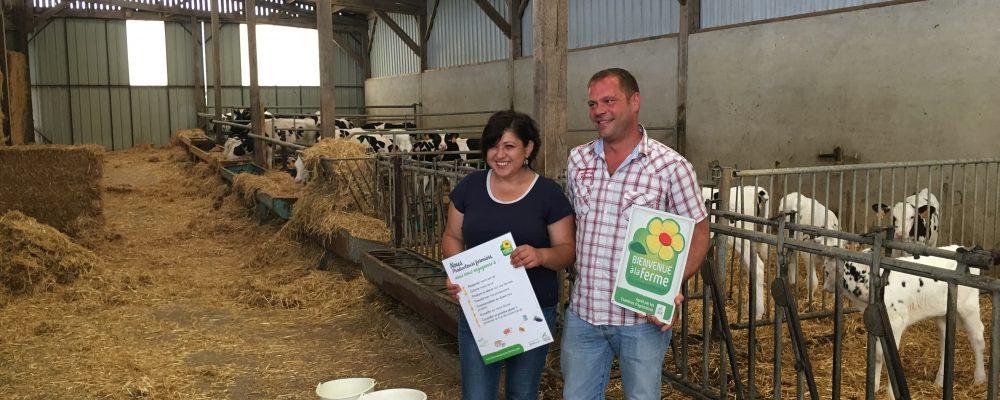 Le label «bienvenue à la ferme» pour la ferme de l'Auberdière à Montaillé