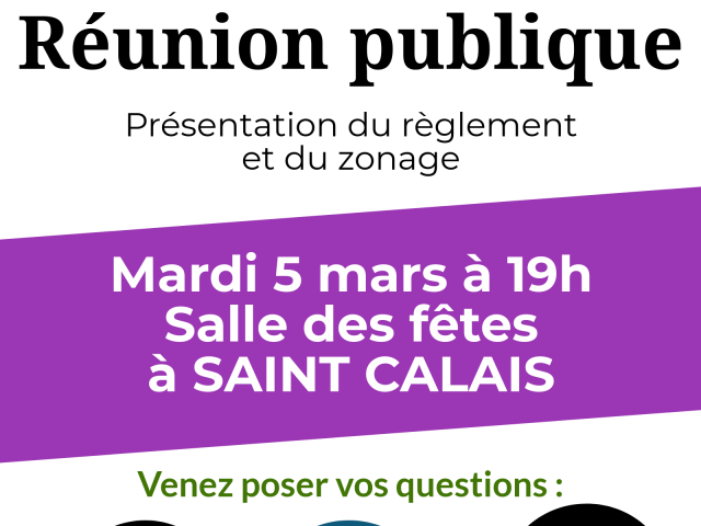 PLUi : réunion publique à Saint Calais