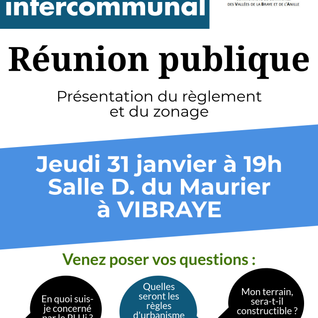 PLUi : Réunion publique à Vibraye