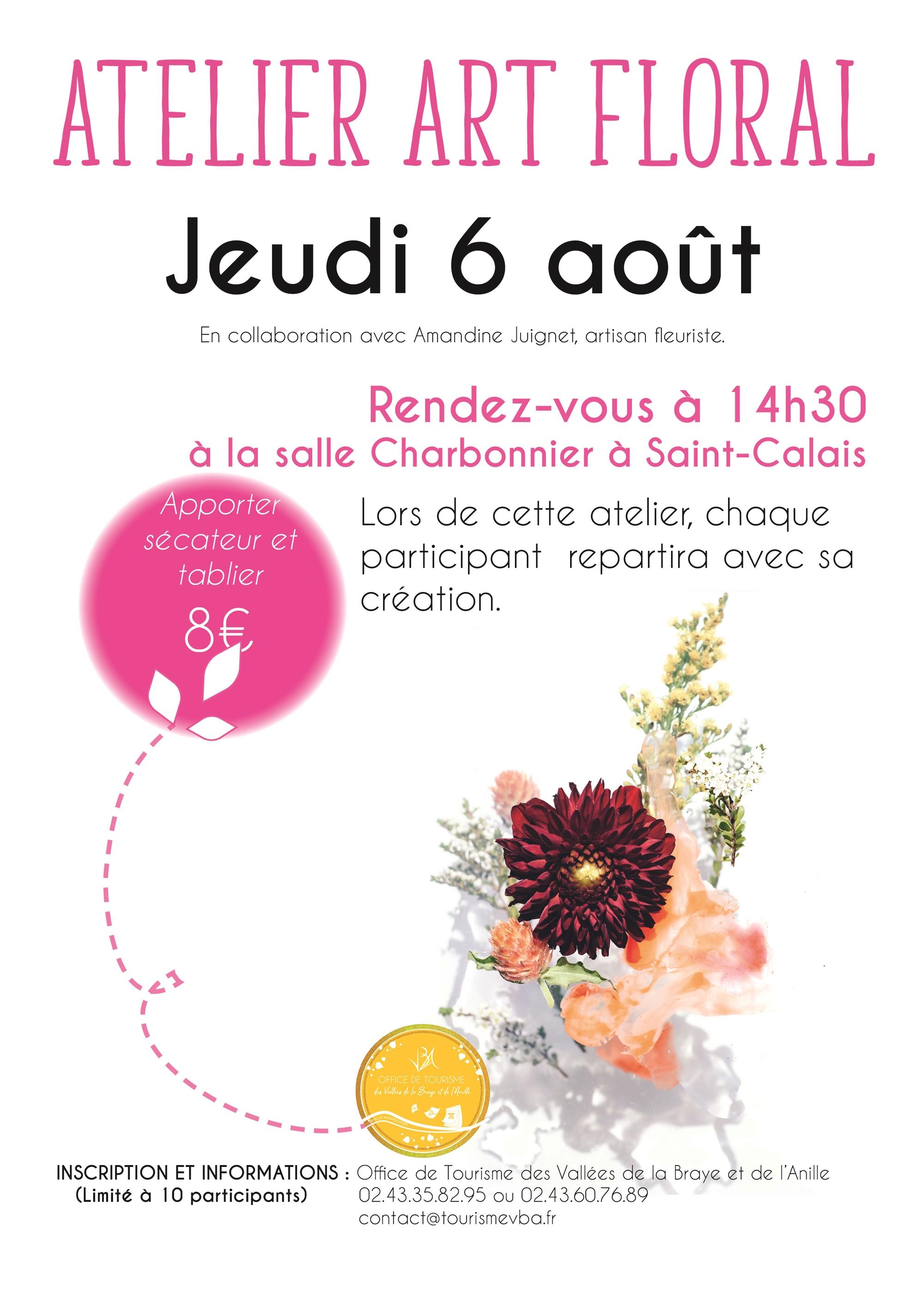 Atelier art floral avec l'office de tourisme des vallées de la Braye et de l'Anille