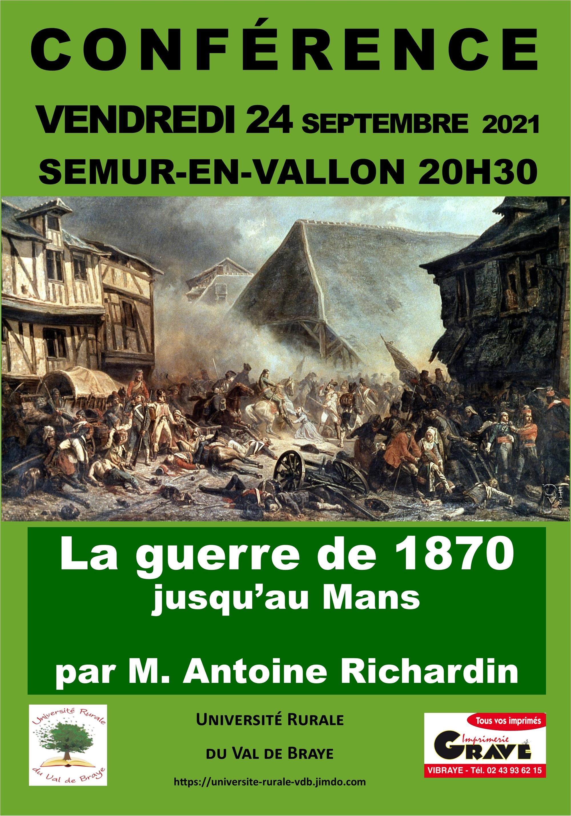La Guerre de 1870 jusqu'au Mans par Antoine Richardin