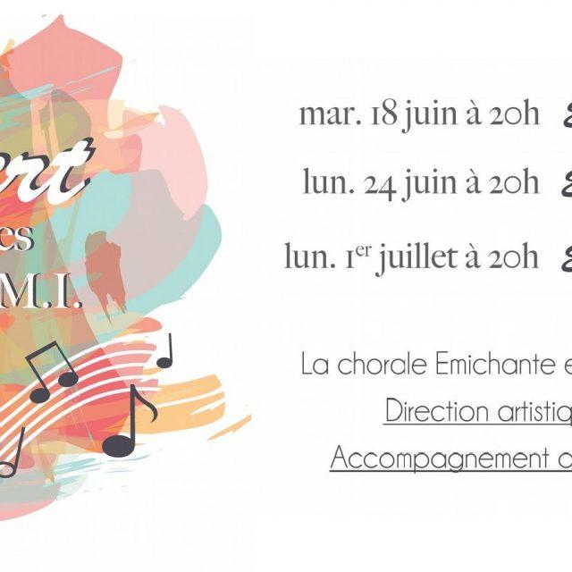 Concerts des chorales EMICHANTE et VAL DE BRAYE