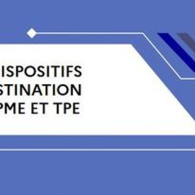 Les dispositifs à destination des PME et TPE – Décembre 2020